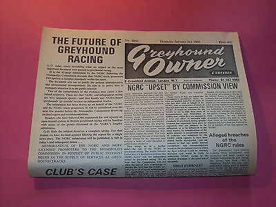 "Perfect 30th Birthday present 1986 "" Greyhound Owner "" newspaper Dog Racing gift"