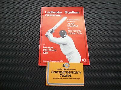 29 March 1982 Crayford race card + Ladbroke Free Entry ticket Greyhound Racing