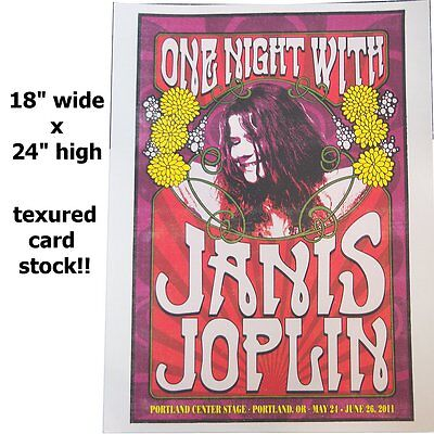 Janis Joplin One Night Portland Center Stage Show Event Poster Lithograph New
