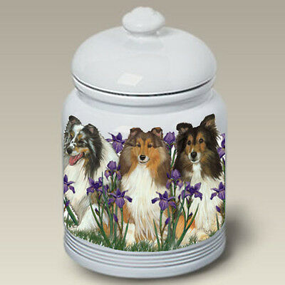 Ceramic Treat Cookie Jar - Shetland Sheepdog Sheltie (PS) 52814
