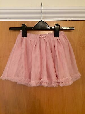 H&M Girls Baby Pink Netted Layered Tutu Skirt Age 4-5 Years