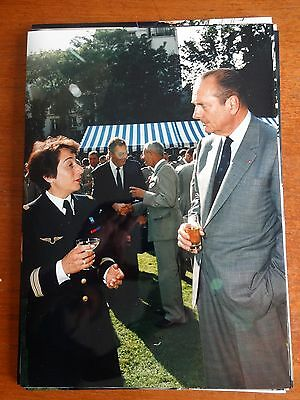 Jacques Chirac Lot Photo Ecpad Ministere Allocution 1996 Brienne Charles Millon