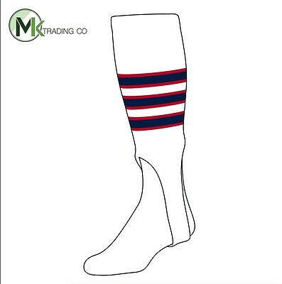 "TCK® Large, 300D, 7"" - White–Scarlet Red–Navy Blue - MLB® Baseball Stirrups"