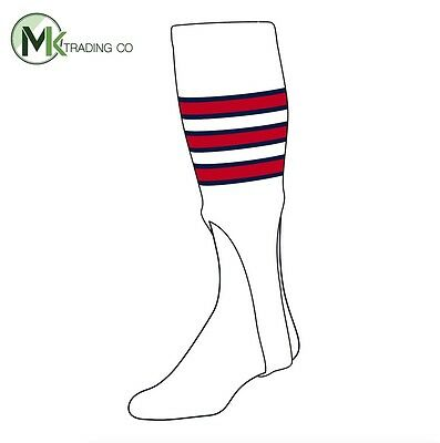 "TCK® Large, 300D, 9"" - White–Navy Blue–Scarlet Red - MLB® Baseball Stirrups"