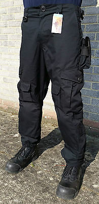 New Ex Police Solo LRP Combat Tactical Trousers With Kneepads Ripstop Security