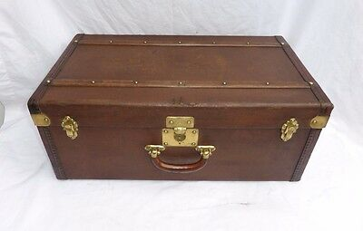 Vintage French Suitcase Trunk Malle Edison