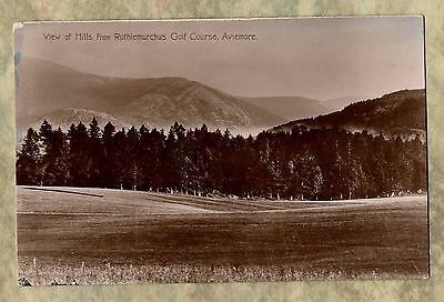 Postcard ~View of Hills from ROTHIEMURCHUS GOLF COURSE ~Scotland AVIEMORE