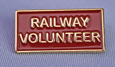 "New Metal Enamel Pin On Badge ""Railway Volunteer"" Heritage Railways"