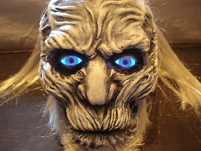 White Walker Sculpture Statue Game Of Thrones Head Bust Hbo Book Led Eyes 1/1