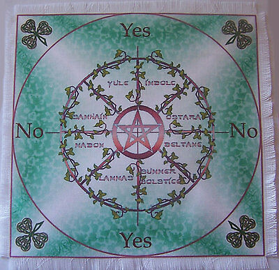 Sabbats Scrying Mat ideal for use with a pendulum, Wicca divination