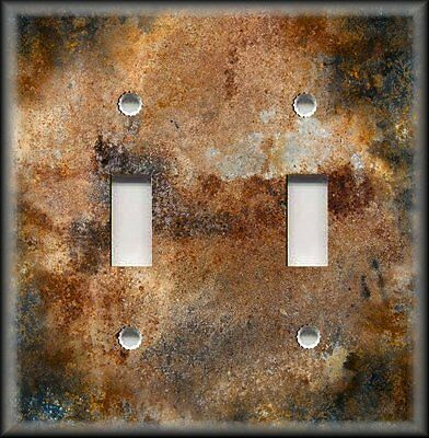 Light Switch Plate Cover Design Of Aged Copper Black Patina Home Decor Rustic