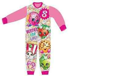 SALE NEW Girls Shopkins All in One Sleepsuit Lounge Wear Ages 3,4,5,6,7,8 Years