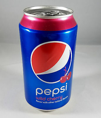 Pepsi Wild Cherry Soda Pop Can Factory Empty Error Still Sealed Air Filled 2016
