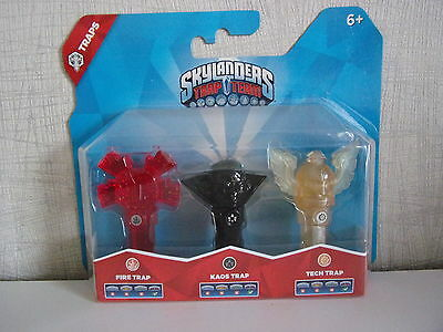 Skylanders TRAP TEAM  3 FALLEN (Fire Totem, KAOS, Tech Flying Helmet) Neu & OVP