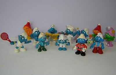Vintage (9) SMURFS Collectibles and (3) Gnomes 1970's to 2000's