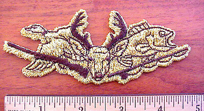 Duck Geese Deer Bass Fish Rifle Fishing Rod Hunting Fishing Sew-On Patch
