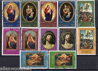 Nice Selection Of  St-Lucia   Used    (1607123)