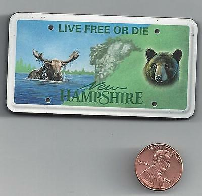 NEW HAMPSHIRE ARTWOOD  LICENSE PLATE MAGNET   LIVE FREE OR DIE  new