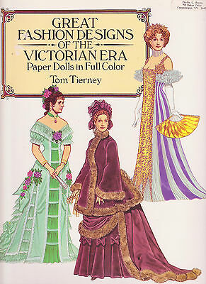 DOVER - Great Fashion Designs of the Victorian Era - PAPER DOLLS - Tom Tierney