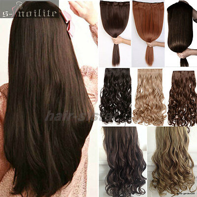 100% Real Thick Hair Extensions Clip in on Hair Extension Full Head as human SN0