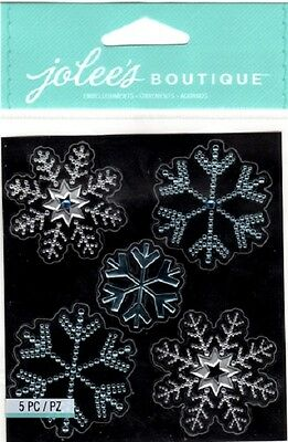 Jolee's Bling SNOWFLAKES Stickers WINTER SNOW CHRISTMAS HOLIDAYS