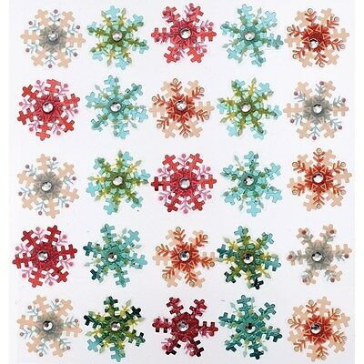 Jolee's MINI SNOWFLAKE REPEATS Stickers WINTER SNOW CHRISTMAS HOLIDAYS
