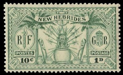 BRITISH NEW HEBRIDES 42 (SG44) - Native Weapons and Idols (pa81455)