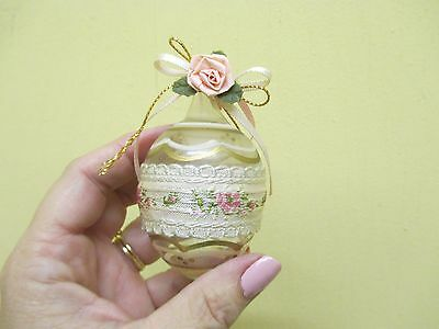vintage Handmade Victorian Style EASTER Ornament HAND BLOWN GLASS?