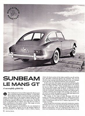 1962 Sunbeam Le Mans GT Coupe Road Test & Technical Data