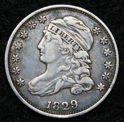 1829 Capped Bust Dime 10 Cents - Very Nice Coin, Free Shipping  (5061)