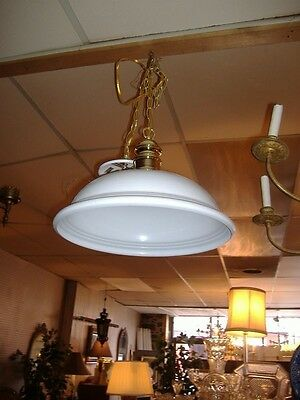 White Metal Brass Chandelier Industrial Pendant Contemporary Vintage