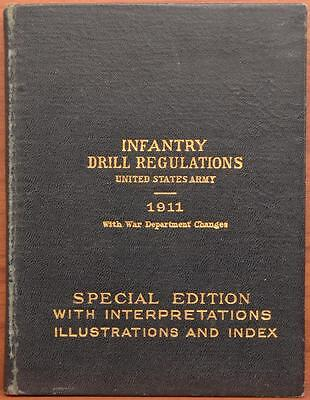 NAMED WWI US Army Infantry Drill Regulations 1911 1916 Appleton Military Book