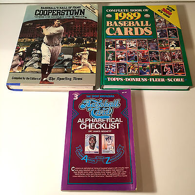Lot of 2 Baseball Card Collector Books 1988/89 &  Revised Cooperstown Book 1988
