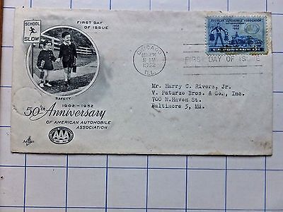 American Auto Association 50th Anniversary Stamp First Day Cover- Safety Patrol
