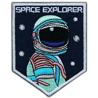 Astronaut Space ExpIorer Iron Sew On Embroidered Patch Badge ***BEST PRICE***