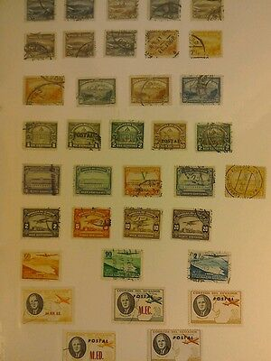 A selection of Stamps from Ecuador.Mixed use and overprints among them.