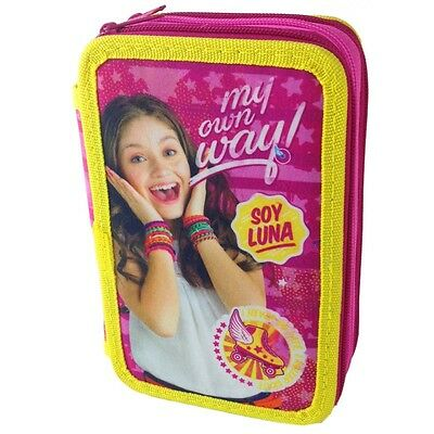 Plumier Soy Luna Disney Triple Filled Pencilcase 42pcs