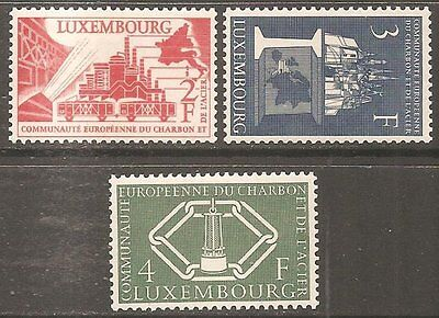 1956 Luxembourg Coal & Steel SG 606-608 MNH/** (Cat £95