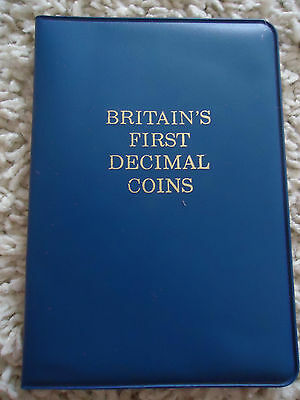 1971 Britains First Decimal Coin Set Of Uncirculated Coins In Wallet