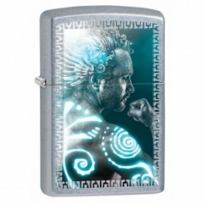 Zippo Mythical Man Street Chrome Lighter Brand New