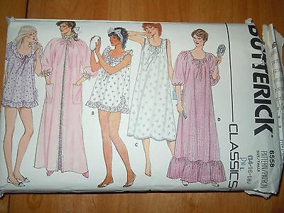 Vintage Butterick Misses Size 14-18 Gown and Robe Pattern #6558