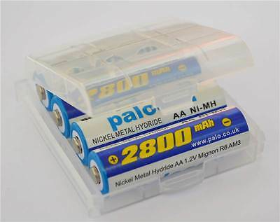 8 Pack Palocell AA Rechargeable Batteries with Battery Storage Case 2800Mah NIMH
