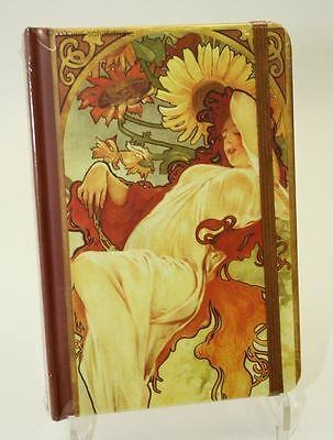 Address book Telephone book with Register Algons Mucha THE SUMMER Elasticated