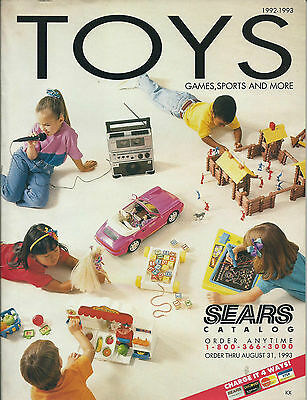 Sears 1993 Toy Catalog. Contains 215 pages.