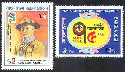 Bangladesh 1982 Scouts/Scouting/Baden-Powell/People 2v set (n29860)