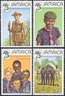 Jamaica 1982 Baden-Powell/Scouts 75th Anniv/Scouting/Camp/People 4v set (n42122)