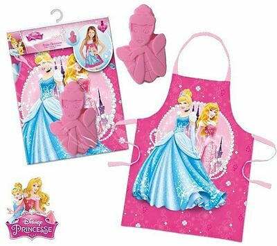 Girls Disney Princess Chef Cook Baking Gift Set Includes Apron And Baking Mold