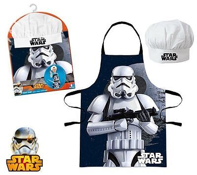 Boys Star Wars 2 Piece Chef Cook Baking Gift Set Includes Apron And Chef Hat