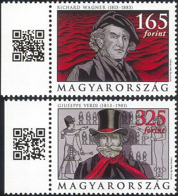 Hungary 2013 Wagner/Verdi/Composers/Music/Opera/Ballet/People 2v set (n45162)