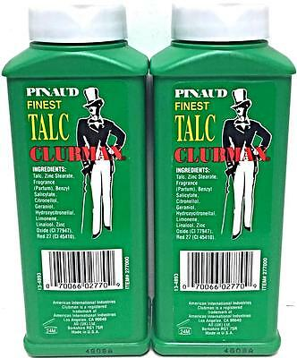 Lot 2 Clubman Pinaud CLASSIC FINEST TALC Flesh Powder Neck Duster Barber Supply
